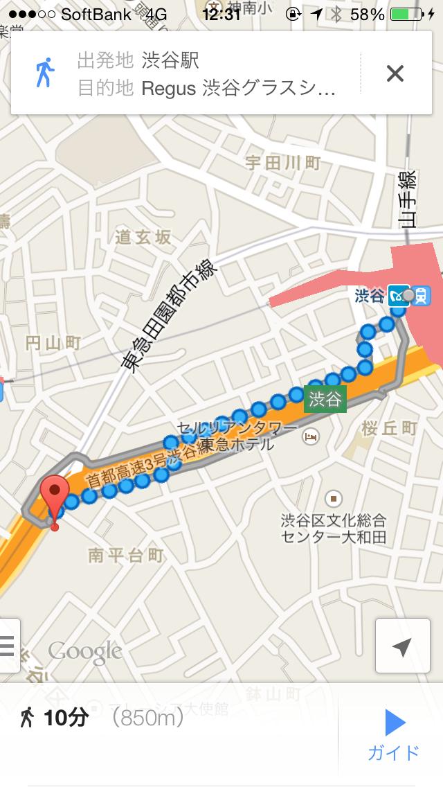 渋谷グラスシティ_地図2