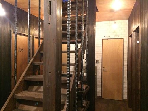 ベースポイントオフィスは新宿・西新宿のレンタルオフィス格安の10万円程で個室レンタルオフィス_8_階段
