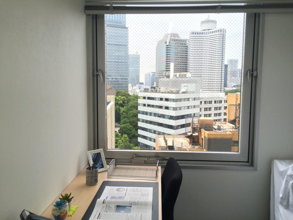リージャス麹町_個室レンタルオフィス4名_窓
