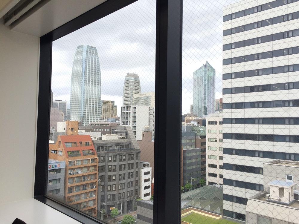 リージャス芝大門_個室レンタルオフィスからの眺望_虎ノ門ヒルズ