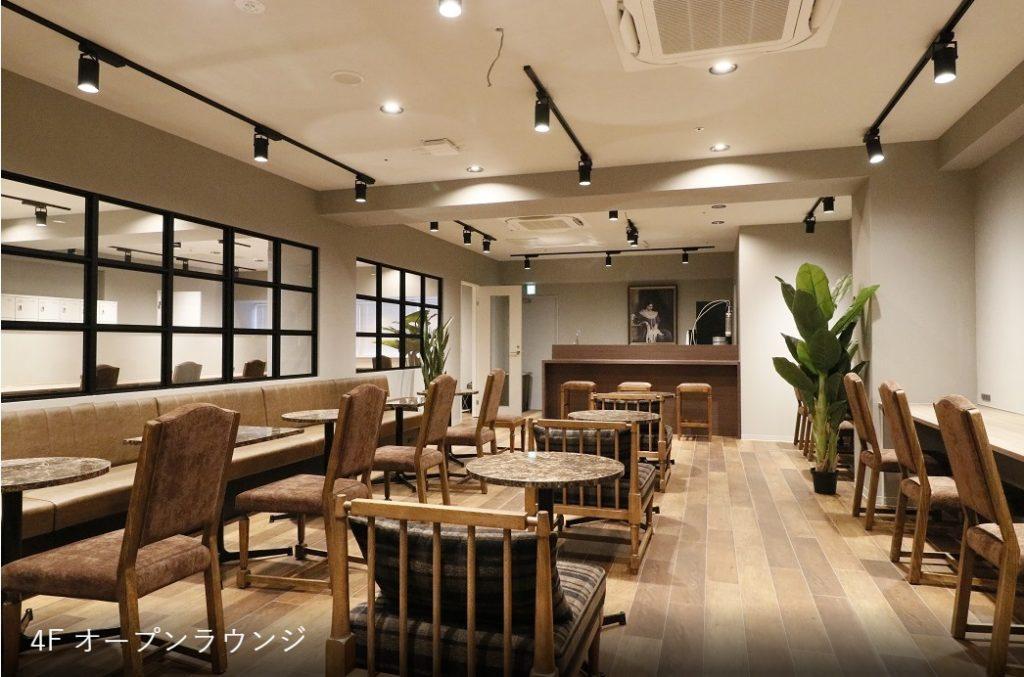 京都レンタルオフィス,シェアオフィス_the hub四条烏丸_ラウンジ