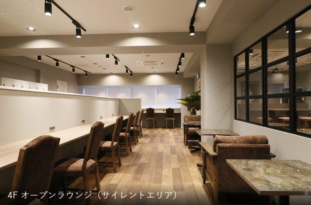 京都コワーキングスペース_the hub四条烏丸_ラウンジ_サイレントエリア