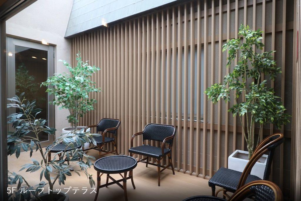京都コワーキングスペース_the hub四条烏丸_ルーフトップテラス