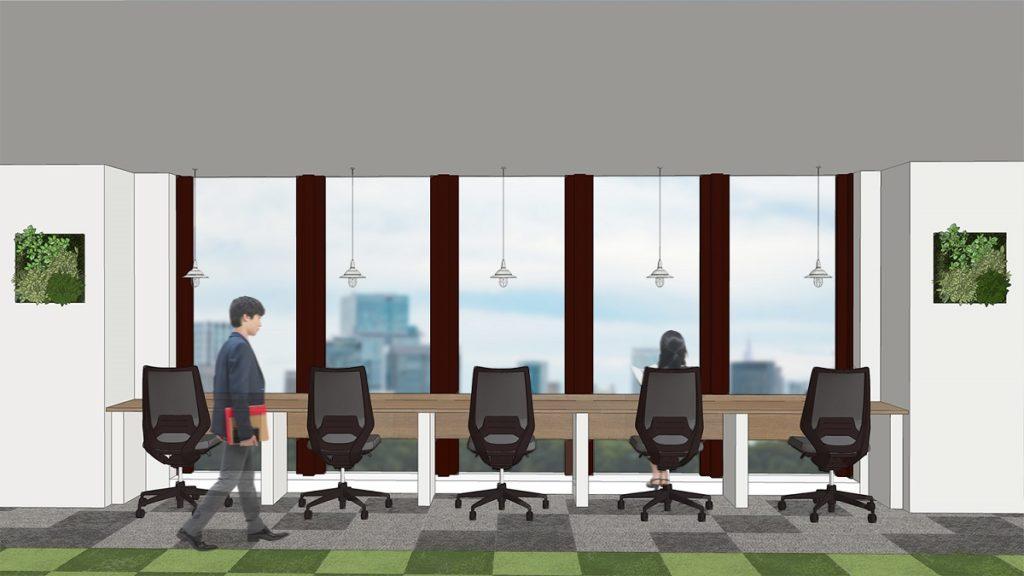 BIZcomfort東新宿_新宿イーストクロスタワー10Fのコワーキングスペース