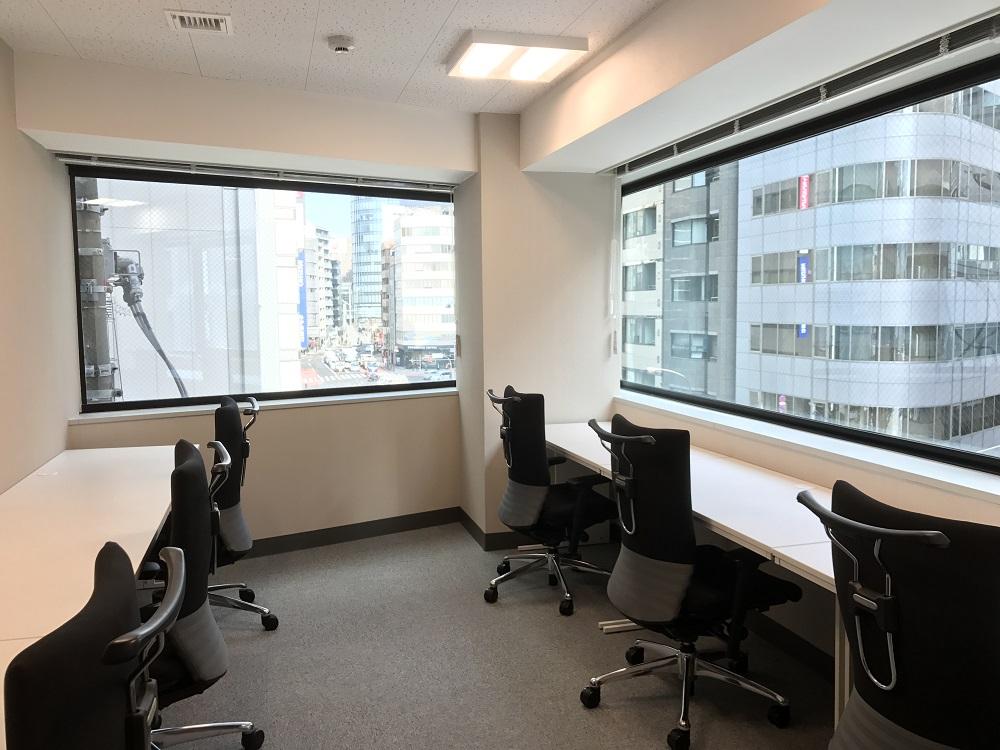 エムワイビジネスプラザ神田の個室。料金は神田レンタルオフィスとしては格安の…