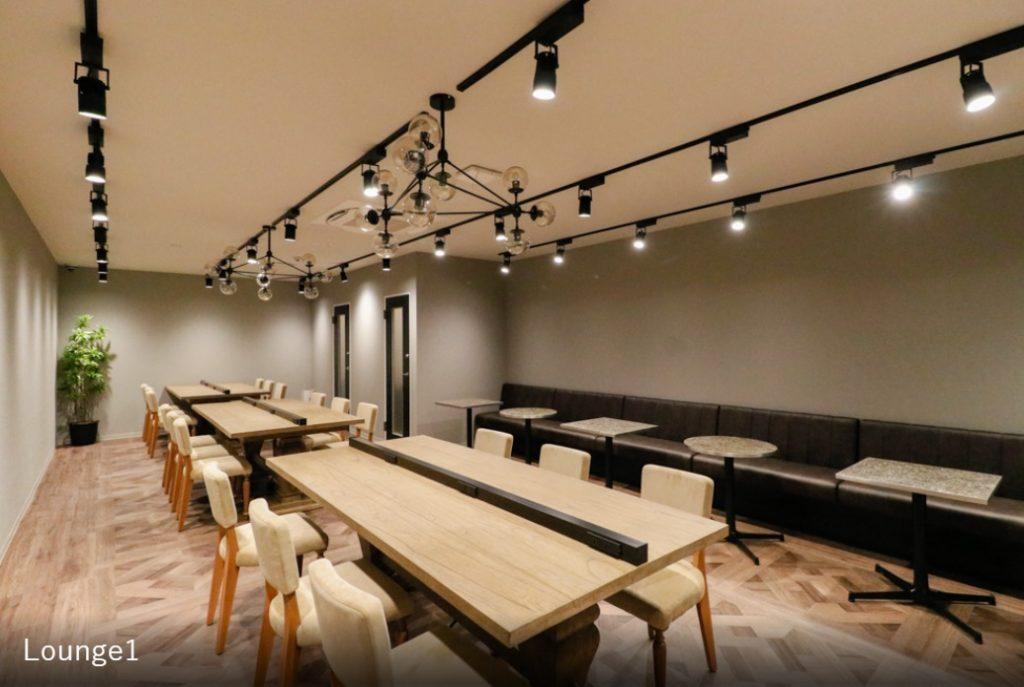 大阪レンタルオフィス,シェアオフィス_the hub心斎橋_ラウンジ