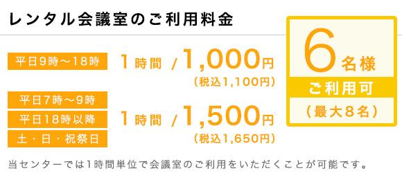ワンストップビジネスセンター上野_会議室の料金
