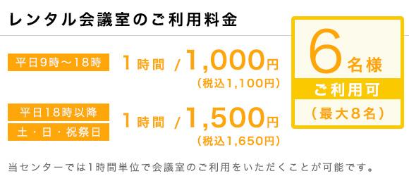 ワンストップビジネスセンター横浜_会議室の料金