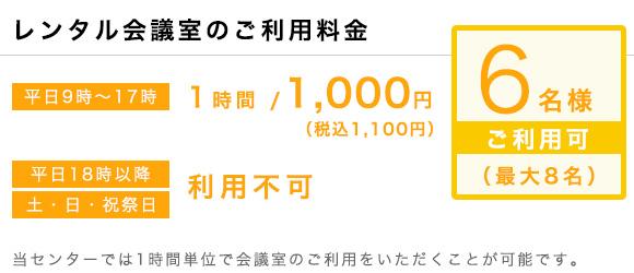 ワンストップビジネスセンター京都_会議室の料金