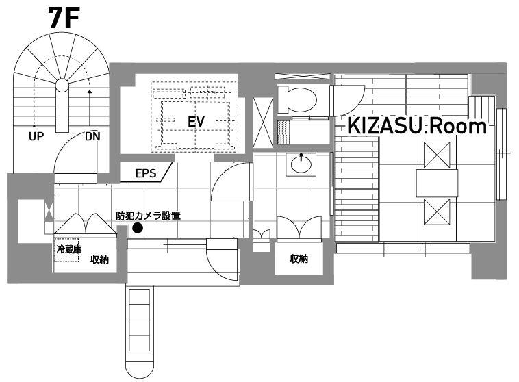 KIZASUOffice(キザスオフィス)_和室・シャワールーム_間取り