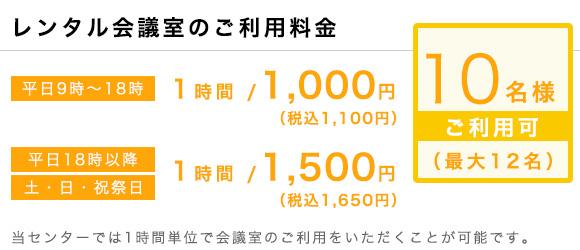 ワンストップビジネスセンター広島_会議室の料金