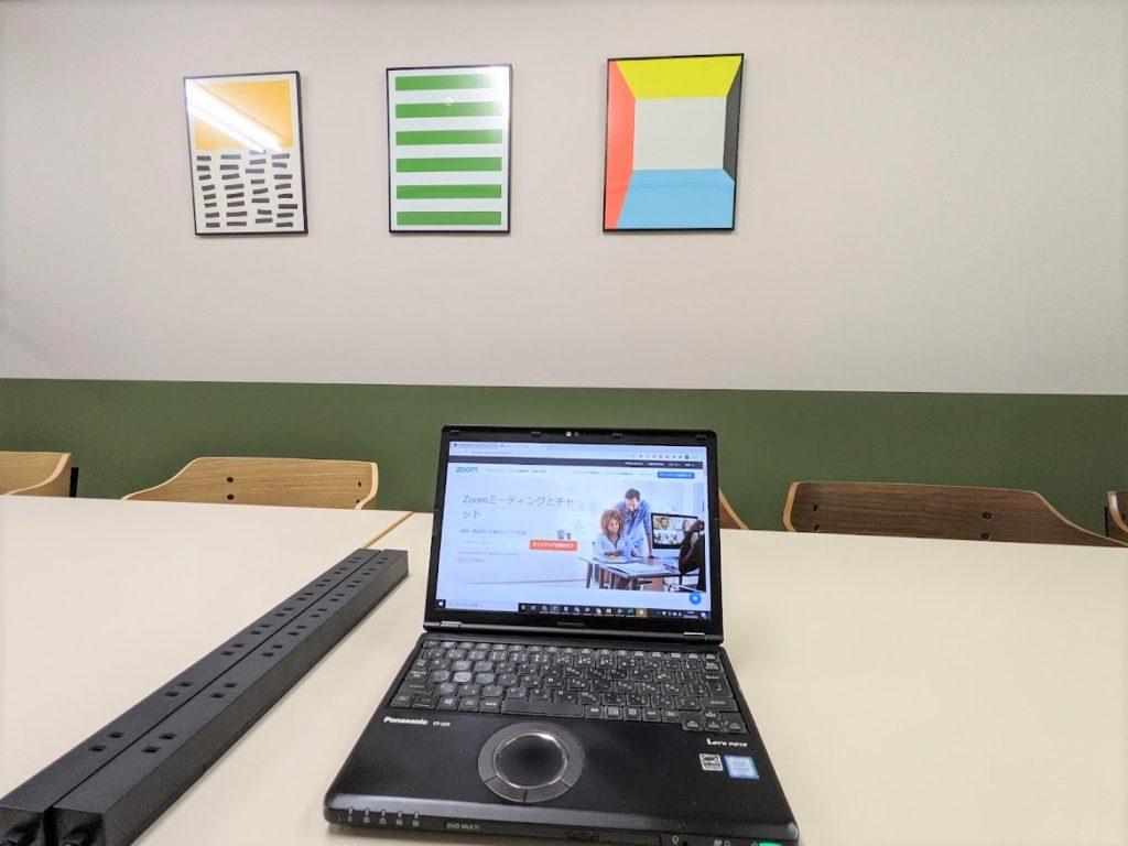 ワンストップビジネスセンター広島_会議室でテレワーク、WEB会議
