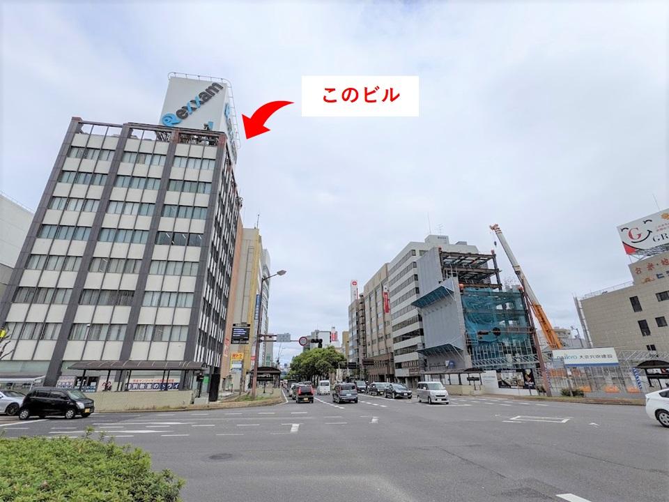 ワンストップビジネスセンター高松の外観_中央通り沿い