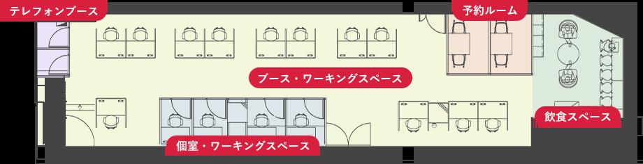 WorkOn西友町田店のフロアマップ