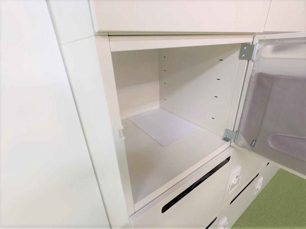 WorkOn西友町田_飲食スペース内にあるロッカーの大きさ