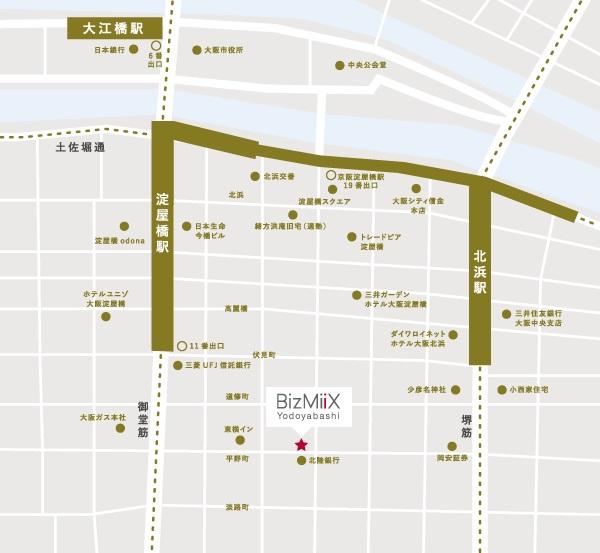 ビズミックス淀屋橋_地図アクセス
